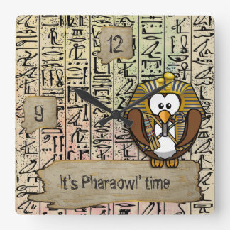Pharaowl home decor wall clocks