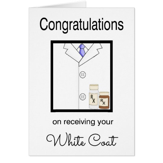 Pharmaceutical White Coat Congratulations Card