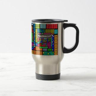 Pharmacist Abstract Art Gifts Travel Mug