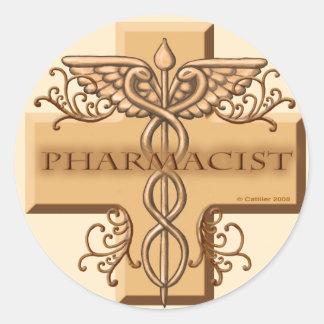 Pharmacist Caduceus Classic Round Sticker
