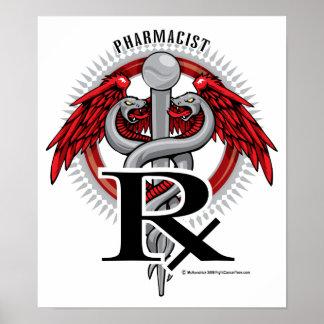 Pharmacist Caduceus Poster