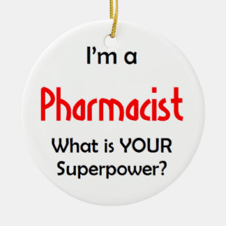 pharmacist ceramic ornament