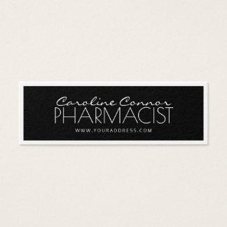 Pharmacist Chemist Black & White Bordered Card