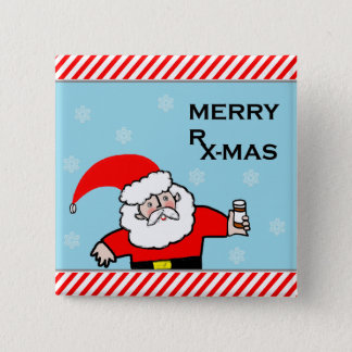 pharmacist Christmas 2 Inch Square Button