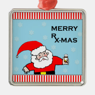 pharmacist christmas metal ornament