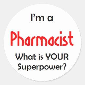 pharmacist classic round sticker