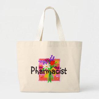 pharmacist, floral tote bag