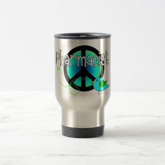 Pharmacist Gifts---Peace Sign Design Travel Mug