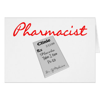 """Pharmacist Gifts """"Rx Pad Graphics"""" Greeting Card"""