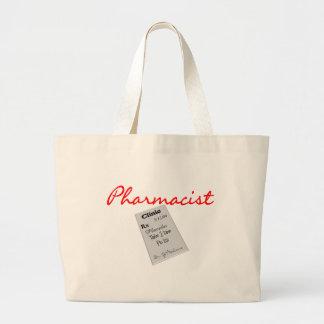 "Pharmacist Gifts ""Rx Pad Graphics"" Jumbo Tote Bag"