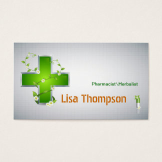Pharmacist Herbalist Pharmacy Nutritionist Business Card