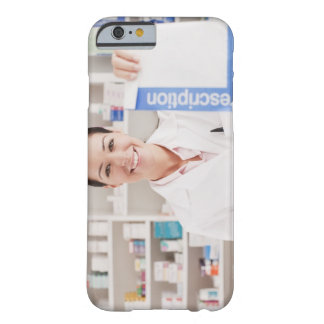 Pharmacist holding prescription in drug store barely there iPhone 6 case