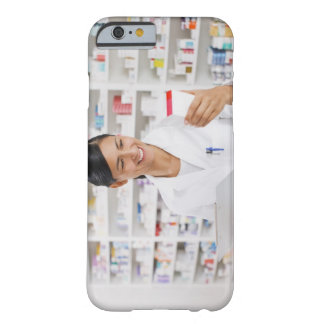 Pharmacist in drug store holding clipboard barely there iPhone 6 case