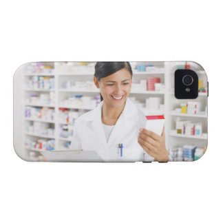 Pharmacist in drug store holding clipboard Case-Mate iPhone 4 cover