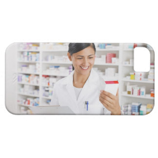 Pharmacist in drug store holding clipboard iPhone 5 case