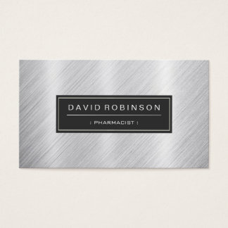 Pharmacist - Modern Brushed Metal Look Business Card
