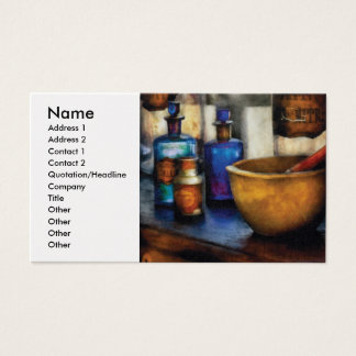Pharmacist - Mortar and Pestle Business Card