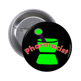 """""""Pharmacist""""  Pestle & Mortar Design Gifts 2 Inch Round Button"""