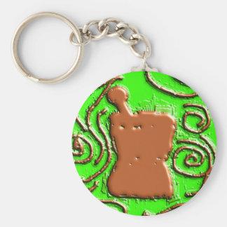 PHARMACIST Pestle & Mortar Design Gifts Basic Round Button Keychain