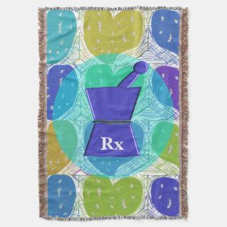 Pharmacist PharmD Woven Blanket Hearts Throw Blanket
