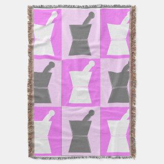 Pharmacist PharmD Woven Blanket Pink Grey Throw Blanket