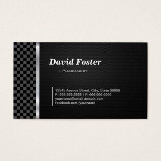 Pharmacist Professional Black White Business Card