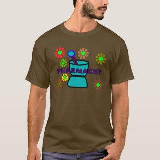 """Pharmacist""  Retro Flowers T-Shirts & Gifts"
