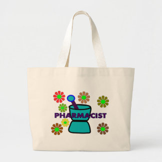 """Pharmacist""  Retro Flowers T-Shirts & Gifts Jumbo Tote Bag"