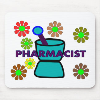 """""""Pharmacist""""  Retro Flowers T-Shirts & Gifts Mouse Pad"""