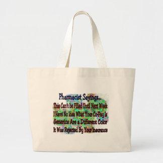 "Pharmacist sayings ""You Know You're Pharmacist IF"" Jumbo Tote Bag"