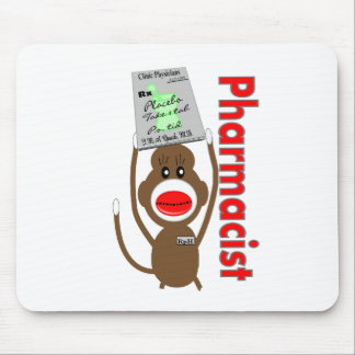 Pharmacist Sock Monkey Design---Adorable Gifts Mouse Pad