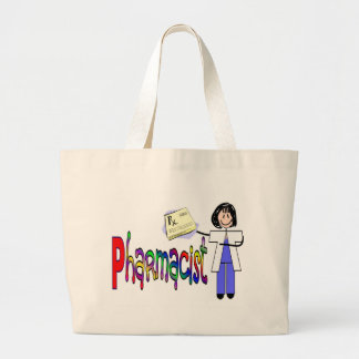 Pharmacist stick people tote bag