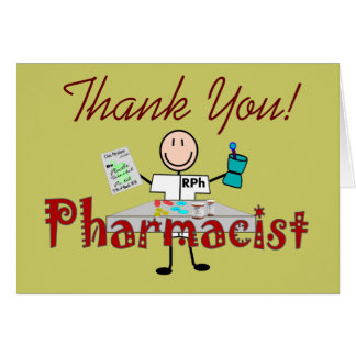 Pharmacist Stick Person--Gifts Card