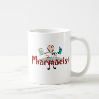 Pharmacist Stick Person--Gifts Classic White Coffee Mug