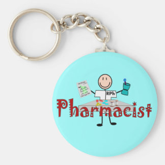 Pharmacist Stick Person--Gifts Keychain
