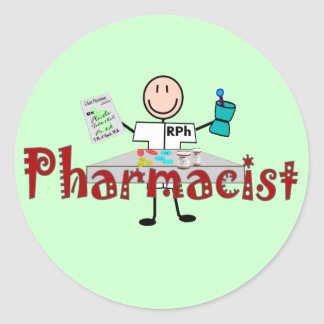 Pharmacist Stick Person--Gifts Stickers