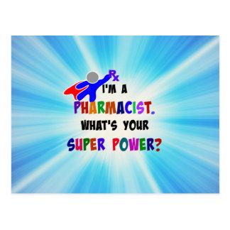 Pharmacist Superhero Custom Design Postcard