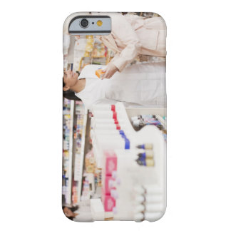 Pharmacist talking to customer in drug store barely there iPhone 6 case
