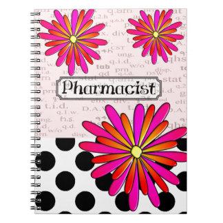 Pharmacist Whimsical Flowers Notebook
