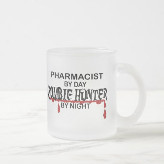 Pharmacist Zombie Hunter Frosted Glass Coffee Mug