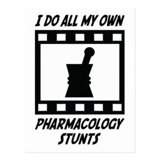 Pharmacology Stunts Postcard