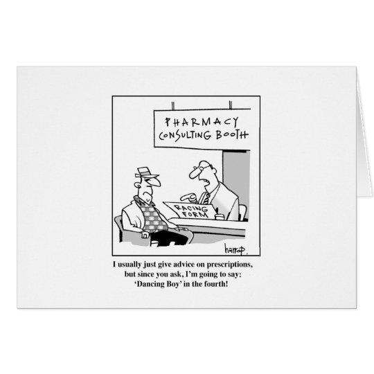 Pharmacy advice card