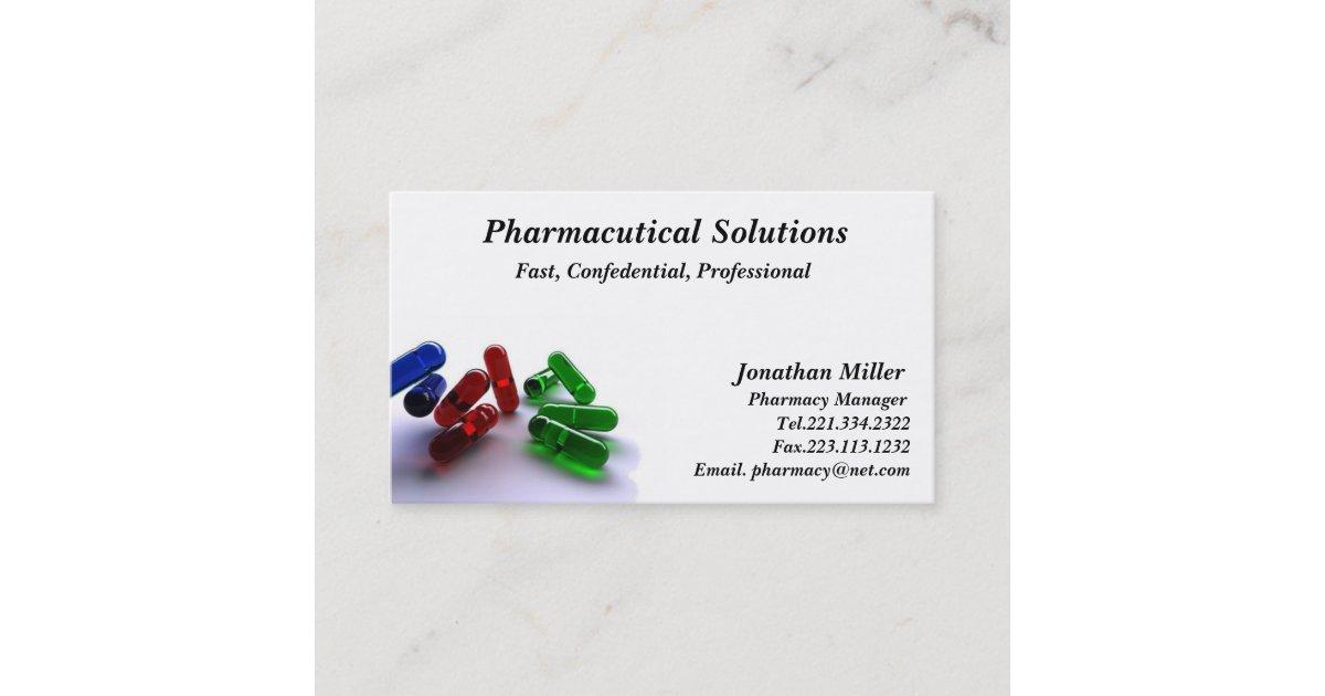 Pharmacy Business Card Pharmacist | Zazzle.ca