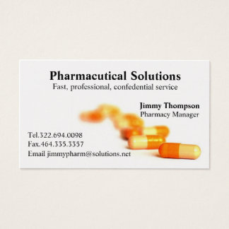 Pharmacy Business Cards Pharmacist