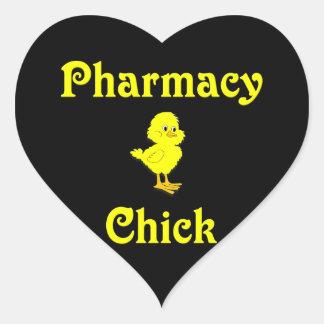 Pharmacy Chick Heart Sticker