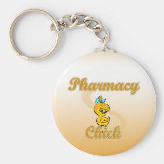 Pharmacy Chick Keychain