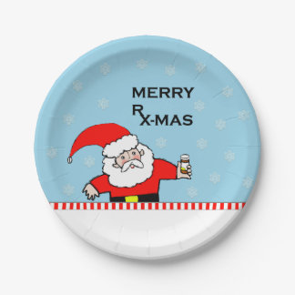 pharmacy Christmas party Paper Plate