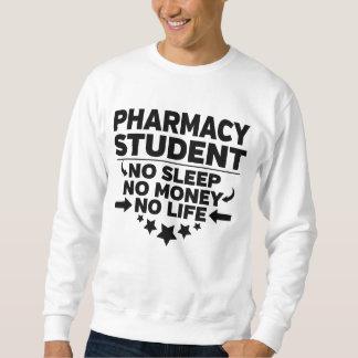 Pharmacy College Student No Life or Money Sweatshirt
