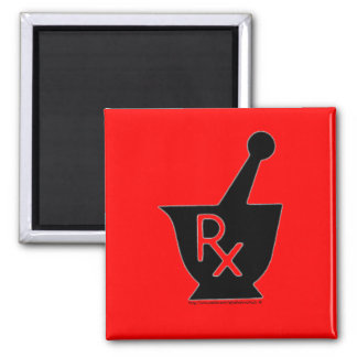 Pharmacy mortor and pestle symbol - magnet