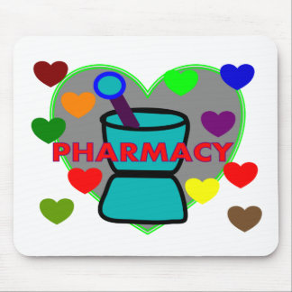 PHARMACY Multi Color Hearts Mouse Mats